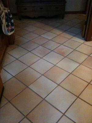 After tile cleaning.