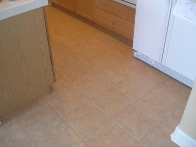 My Kitchen After Grout Cleaning
