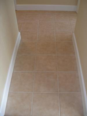 Hallway After Grout Cleaning
